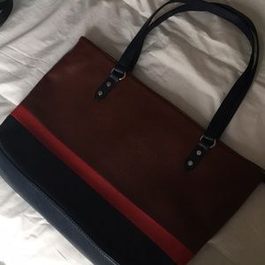 NWOT Color block totes